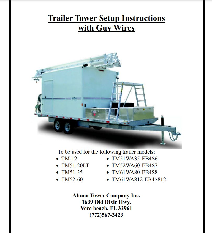 trailer tower setup instructions with guy wires